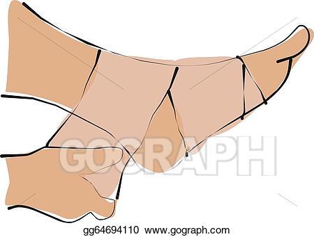 Ace wraps clipart clip black and white download Clipart - Pain leg. Stock Illustration gg64694110 - GoGraph clip black and white download