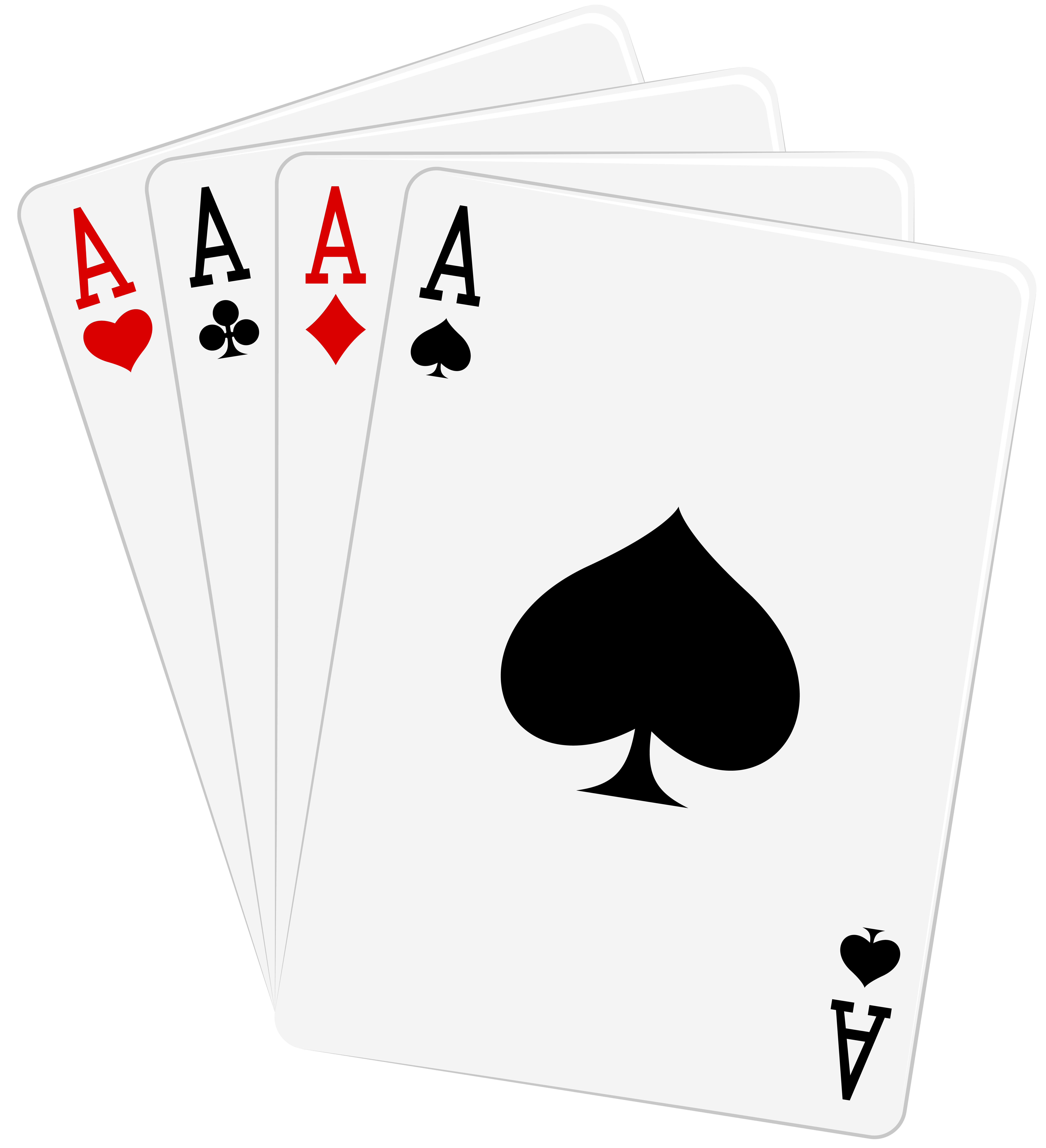 Clipart aces clipart black and white download Four Aces Cards PNG Clipart - Best WEB Clipart clipart black and white download