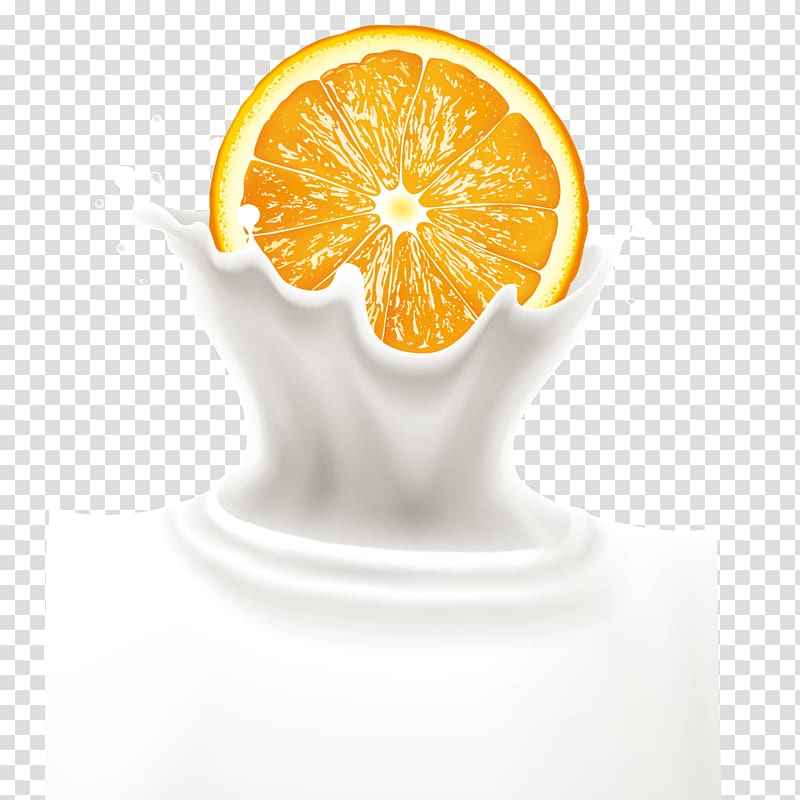 Acid splash clipart png transparent library Orange juice Milk Orange drink, Oranges and milk splash transparent ... png transparent library