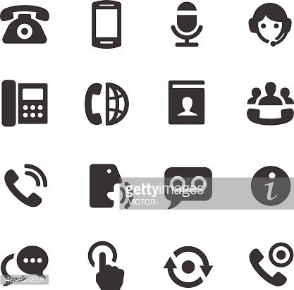 Telephone Icons Acme Series premium clipart - ClipartLogo.com clip art black and white