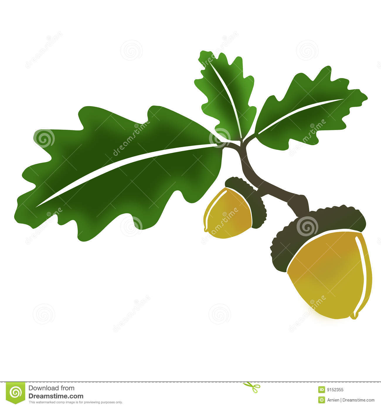 Acorn and oak leaf clipart picture transparent library Oak, leaves and acorn | Clipart Panda - Free Clipart Images picture transparent library