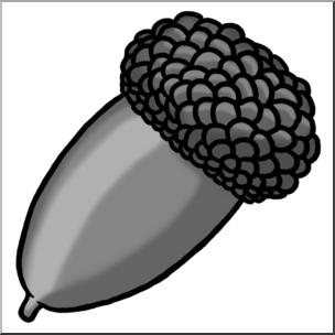 Acorn cone clipart clip art transparent Clip Art: Acorn Grayscale I abcteach.com   abcteach clip art transparent