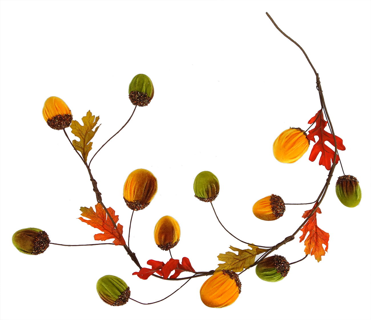 Acorn garland clipart banner library library Fall Colors Harvest Acorn Garland banner library library