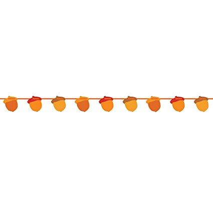 Acorn garland clipart clip art stock Amazon.com: 7ft Paper Cutout Fall Acorn Garland: Kitchen & Dining clip art stock