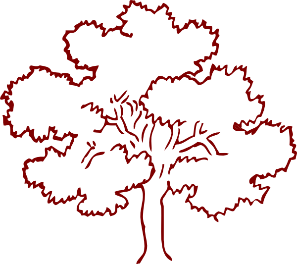 Tree outline clipart picture library download Brown Oak Tree Clip Art at Clker.com - vector clip art online ... picture library download