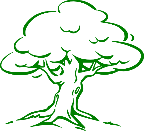 cartoon tree imges | Green Oak Tree clip art - vector clip art ... png library library