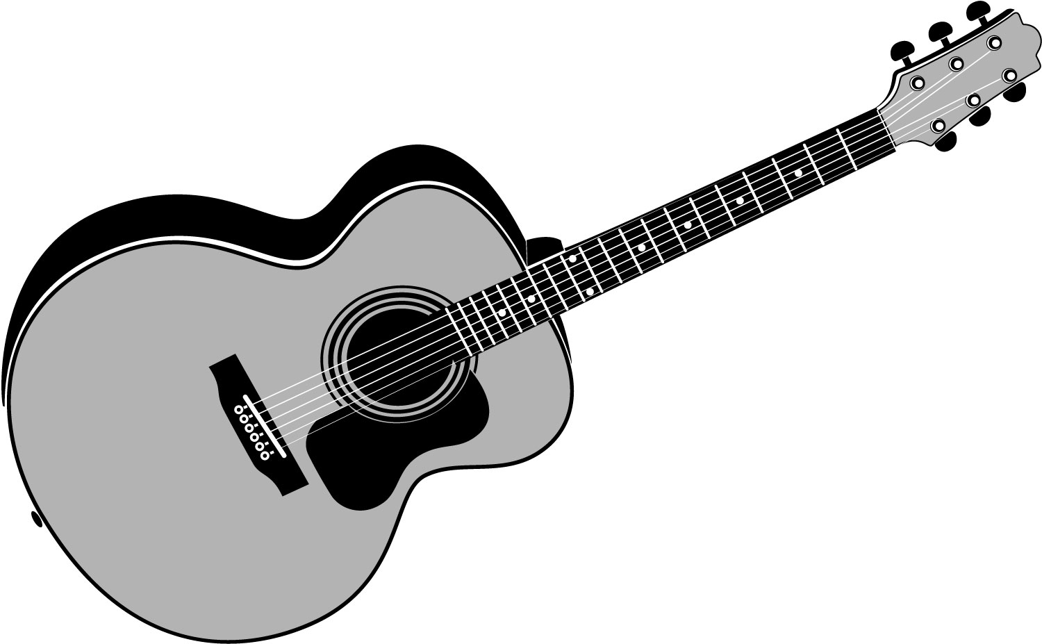 Free Acoustic Guitar Clipart, Download Free Clip Art, Free Clip Art ... svg black and white library