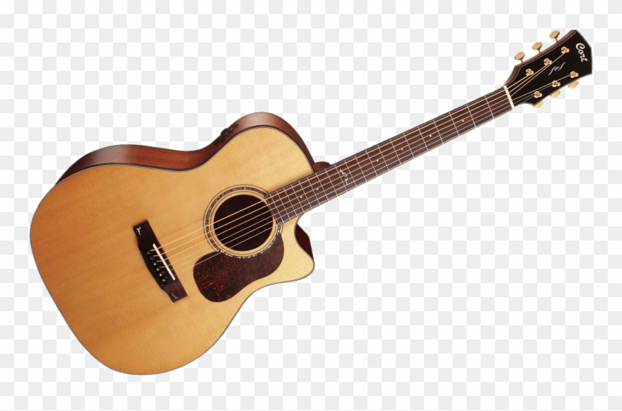 Drawing Guitar Acoustic - Acoustic Guitar Clipart (#1219788 ... clip art black and white