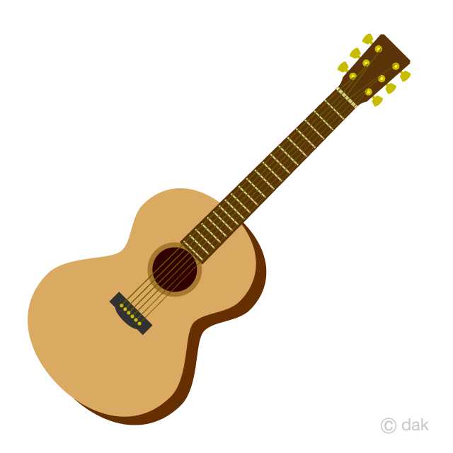 Cute Acoustic Guitar Clipart Free Picture|Illustoon jpg royalty free