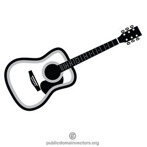 Acoustic guitar clipart black and white vector stock 181 free acoustic guitar vector clip art | Public domain vectors vector stock