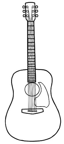 Acoustic guitar clipart black and white jpg transparent Guitar Clipart Black And White | Free download best Guitar Clipart ... jpg transparent
