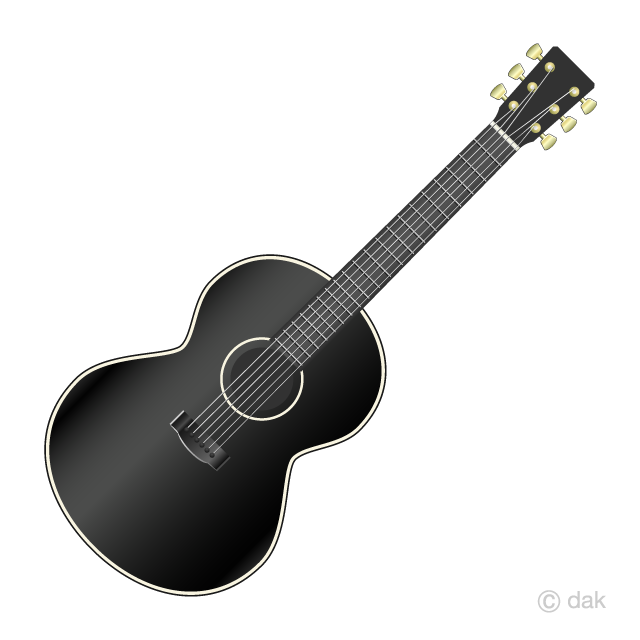 Acoustic guitar clipart black and white vector transparent stock Black Acoustic Guitar Clipart Free Picture|Illustoon vector transparent stock
