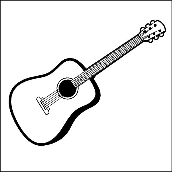 Acoustic guitar clipart black and white banner transparent library Guitar Clipart Black And White | Clipart Panda - Free Clipart Images ... banner transparent library