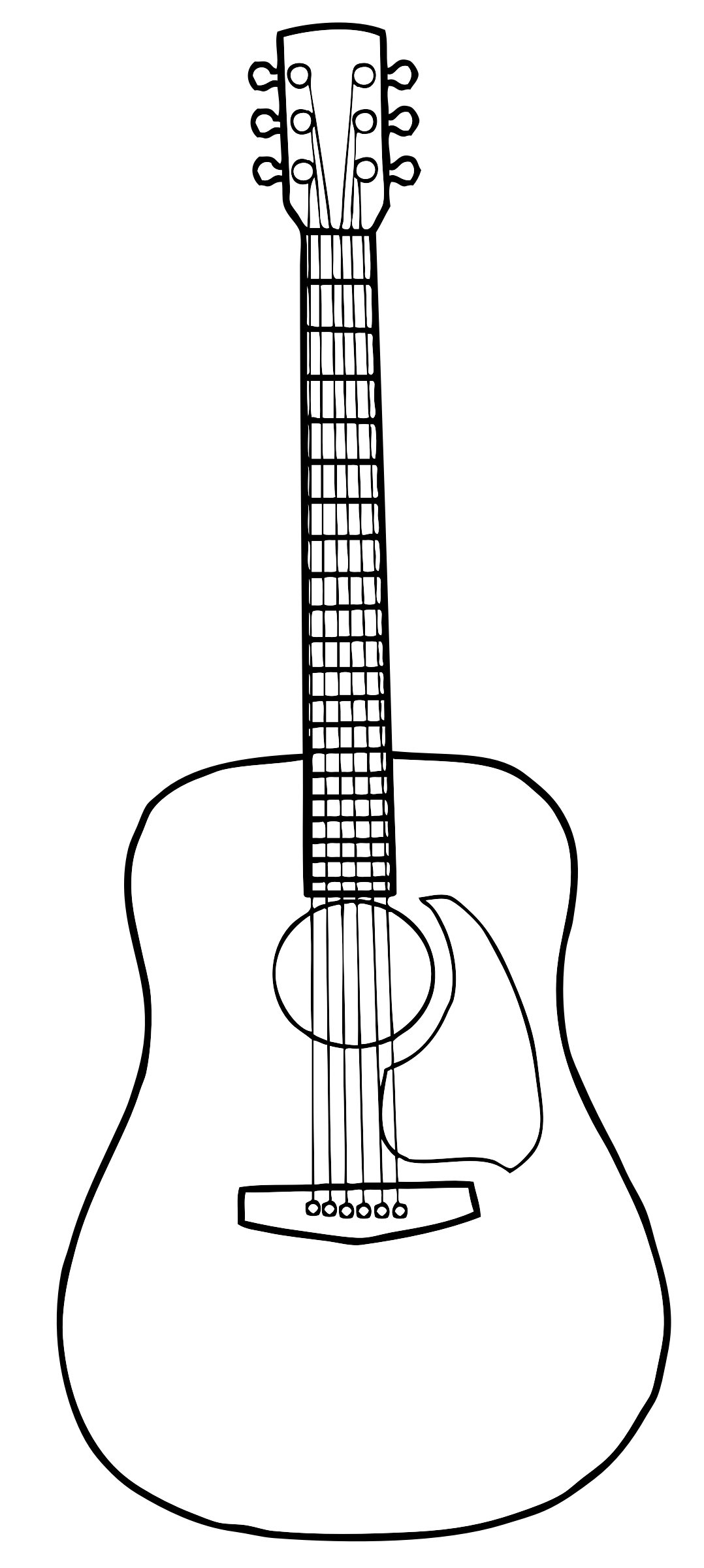 Guitar Outline Cliparts - Cliparts Zone clip royalty free