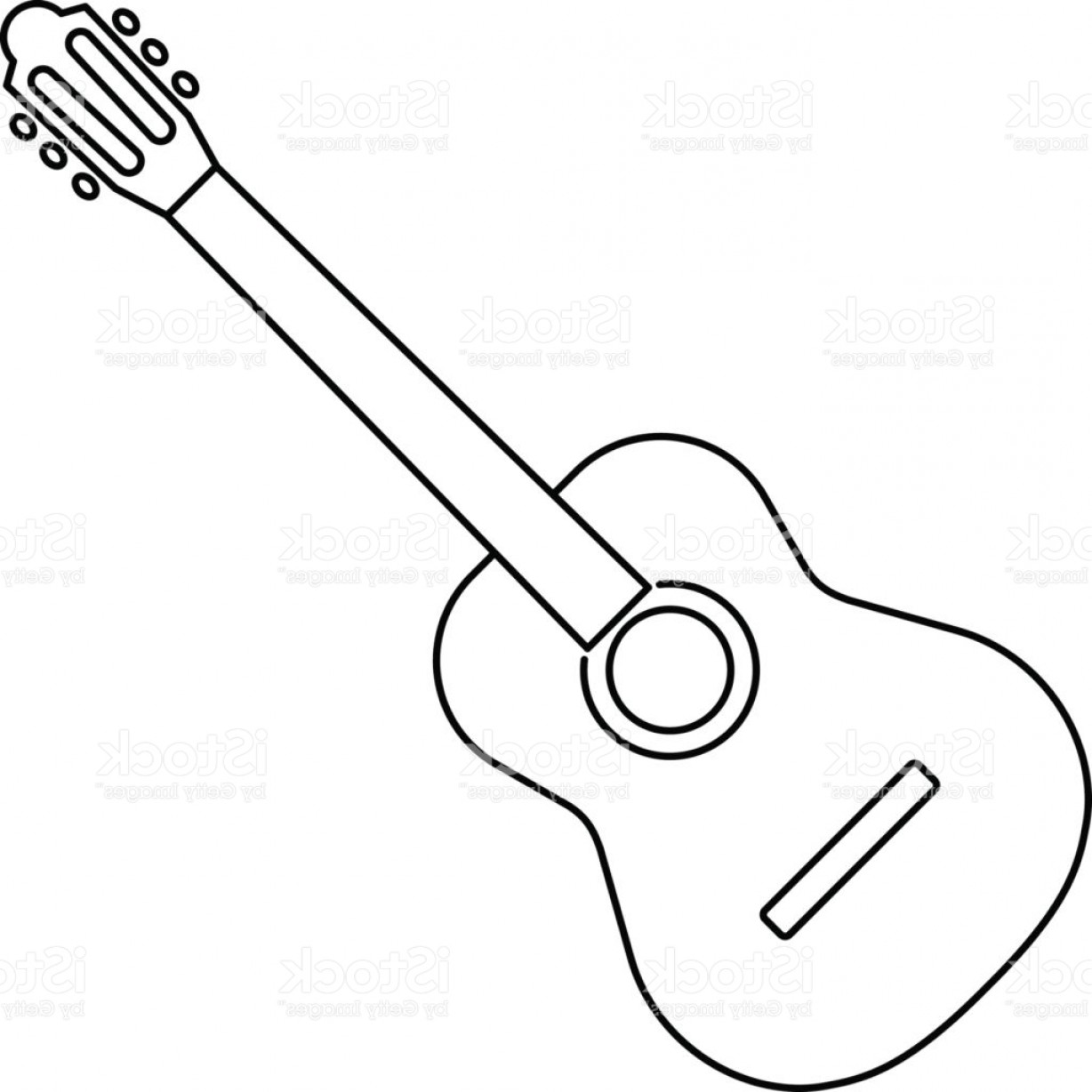 Acoustic Guitar Line Drawing at PaintingValley.com | Explore ... vector library