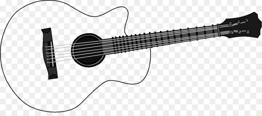 Acoustic-electric guitar Acoustic guitar Clip art - Guitar Outline ... image freeuse