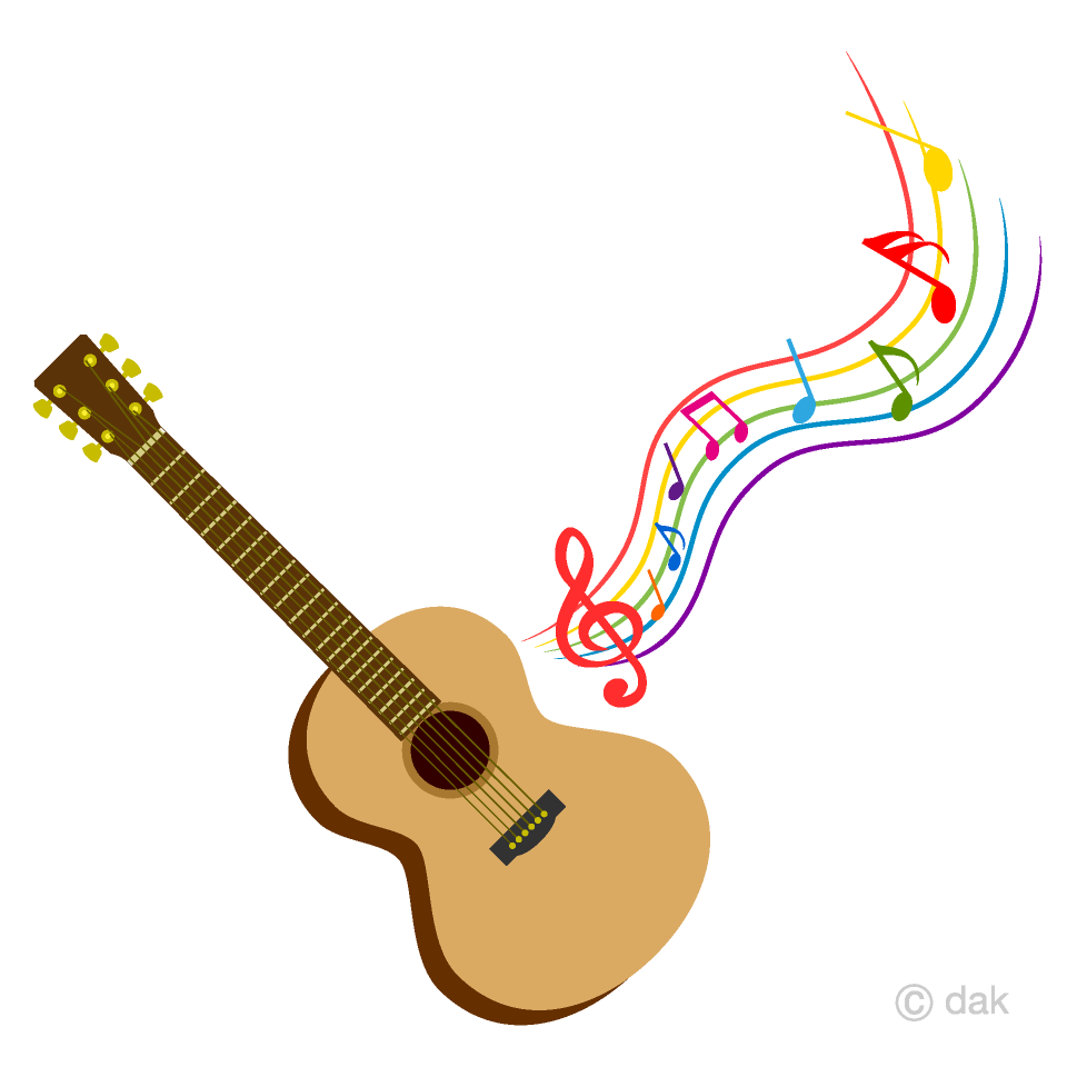 Acoustic music clipart vector free library Guitar and Sheet Music Clipart Free Picture Illustoon vector free library