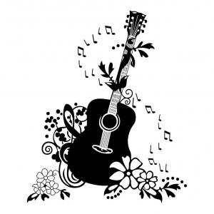 Acoustic music clipart clipart library Guitar Clipart Acoustic Music Free Vector Graphic On Pixabay X Crown ... clipart library