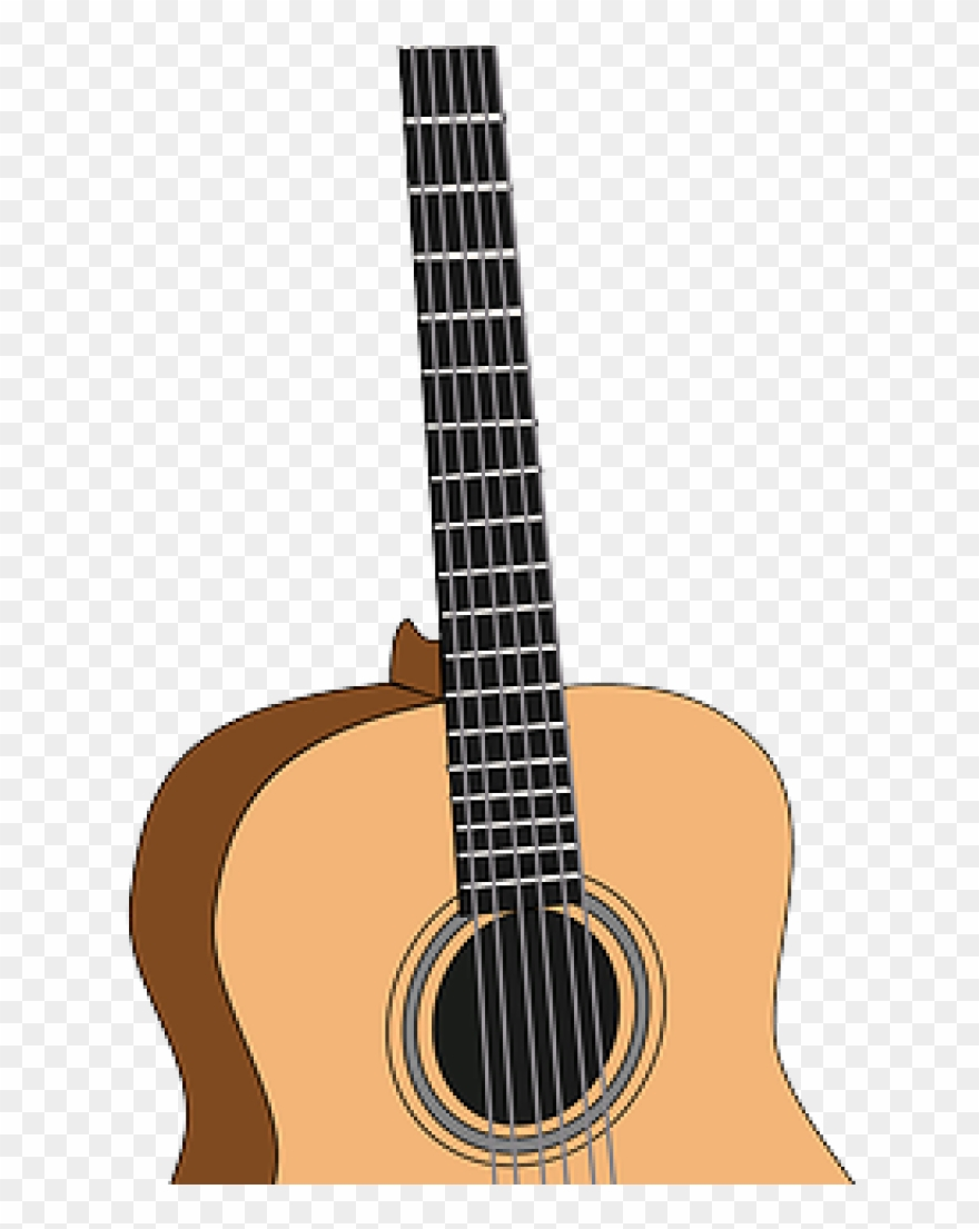 Acoustic music clipart clip art black and white library Acoustic Guitar Clipart Free Image On Pixabay Guitar - Guitar - Png ... clip art black and white library