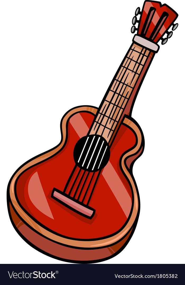 Acoustic music clipart svg black and white stock Acoustic guitar cartoon clip art svg black and white stock