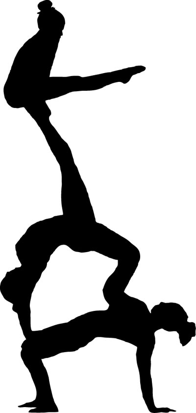 Acrobatics and tumbling clipart clip library library Acro clipart drawing for free download and use images in ... clip library library