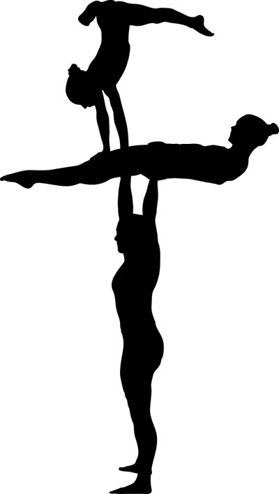 Acrobatics and tumbling clipart banner royalty free stock Acro clipart tumbling for free download and use images in ... banner royalty free stock