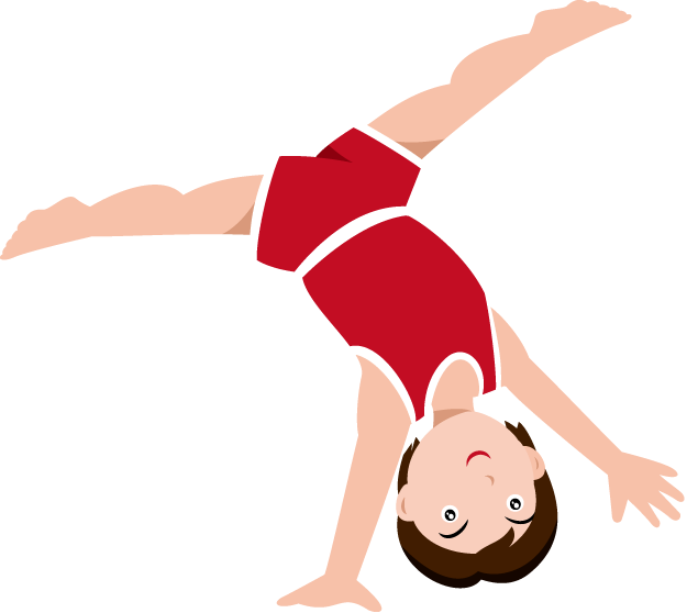 Boy cartwheel clipart