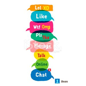 Acronyms clipart jpg freeuse stock Most Common Used Acronyms and Abbreviations ON Speech Bubbles ... jpg freeuse stock