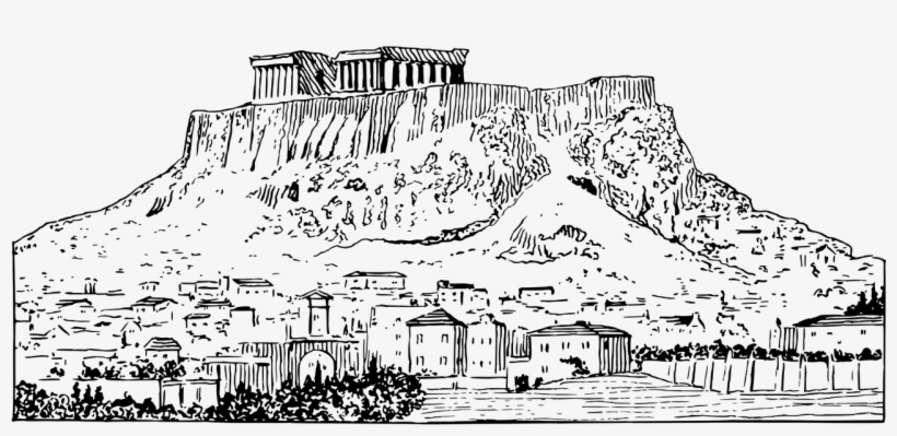 Acropolis images clipart svg Banner Black And White Stock Of Athens Drawings Sketchbook ... svg