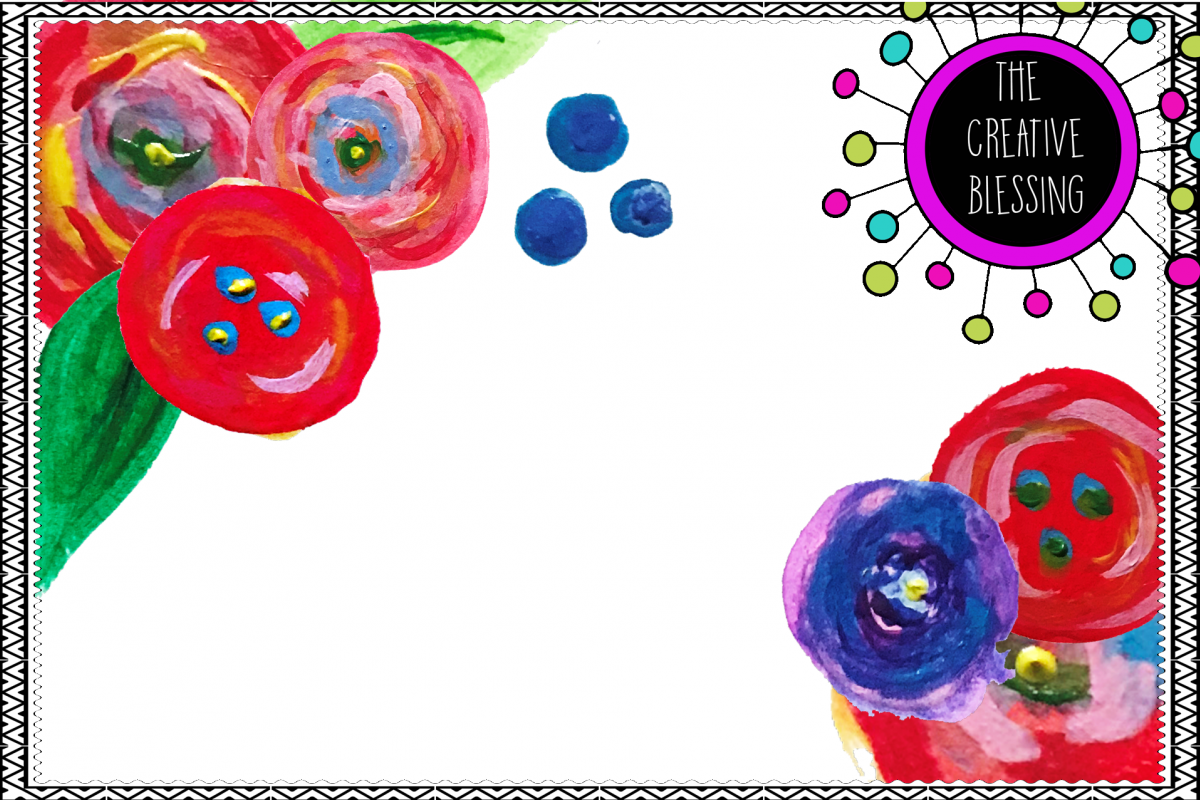 Acrylic / Watercolor Floral Clipart picture library stock