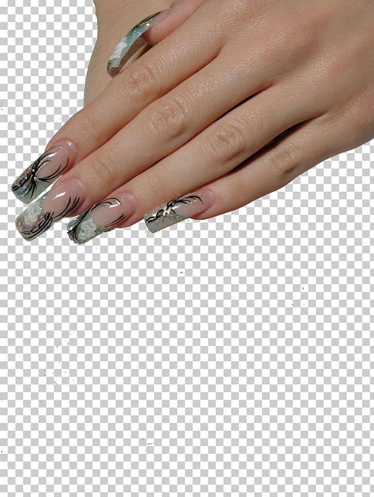 Artificial nails clipart