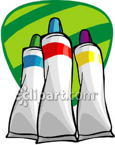 Acrylic paint tube clipart graphic black and white library Colored Paint Tubes - Royalty Free Clipart Picture graphic black and white library