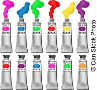 Acrylic paint tube clipart clip library download Acrylic tubes Illustrations, Graphics & Clipart | Can Stock Photo clip library download