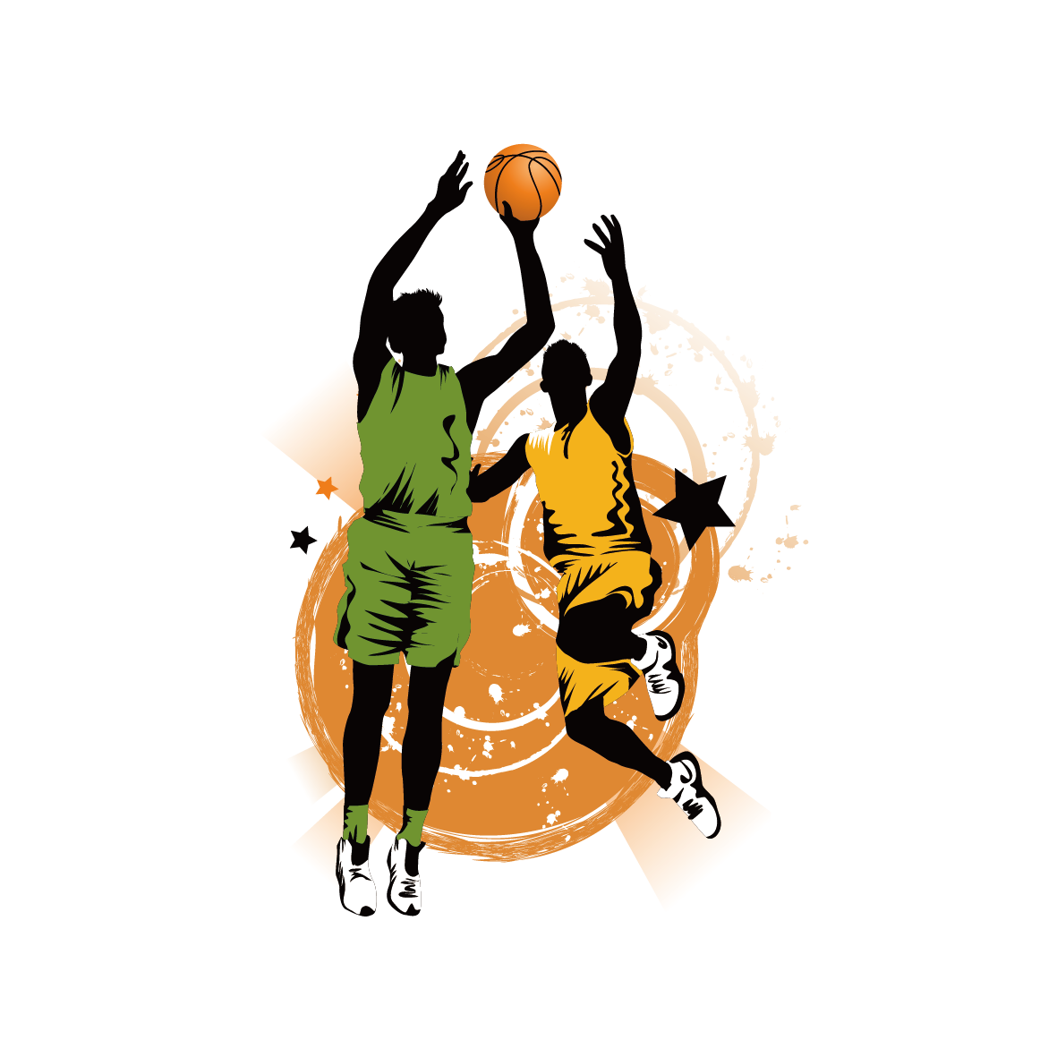 Girl dunking basketball clipart vector royalty free download Slam Dunk Clipart at GetDrawings.com | Free for personal use Slam ... vector royalty free download