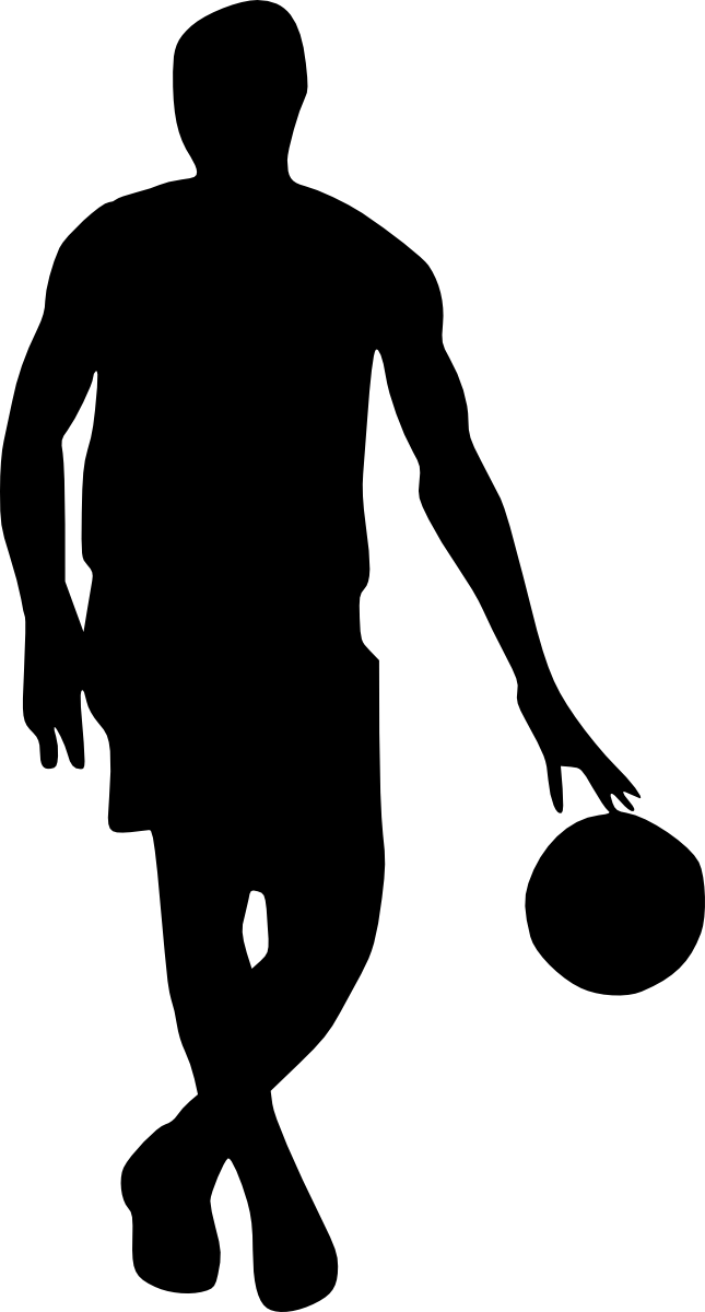 Basketball player black and white clipart svg stock Silhouette Basketball at GetDrawings.com | Free for personal use ... svg stock