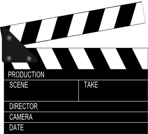 Action clipboard clipart picture black and white Movie Clapper Board Clip Art at Clker.com - vector clip art online ... picture black and white