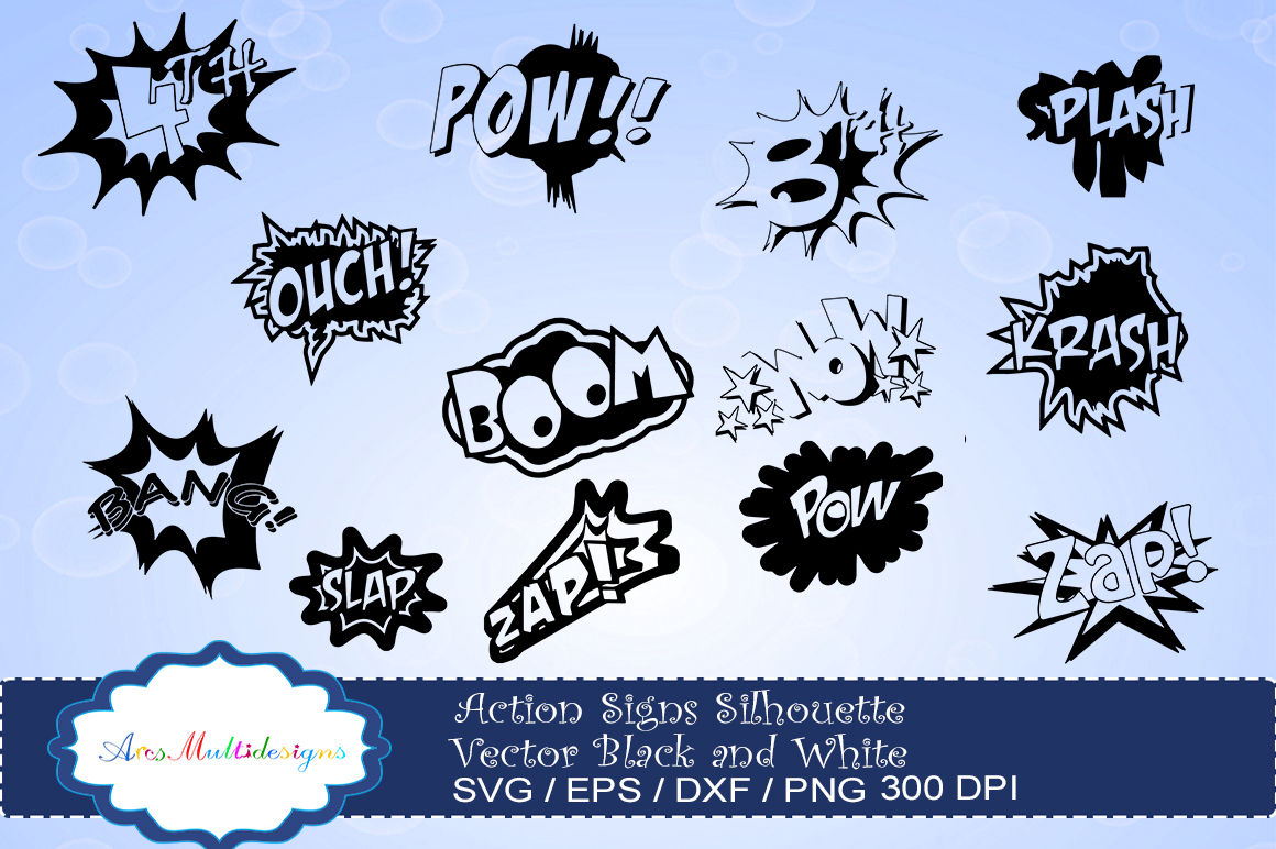 action signs svg vector silhouette / action sign svg clipart / zap ... clip royalty free download