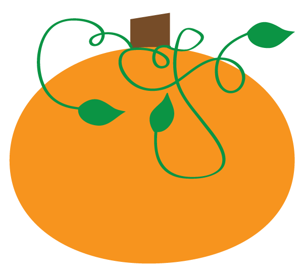 Curly pumpkin clipart