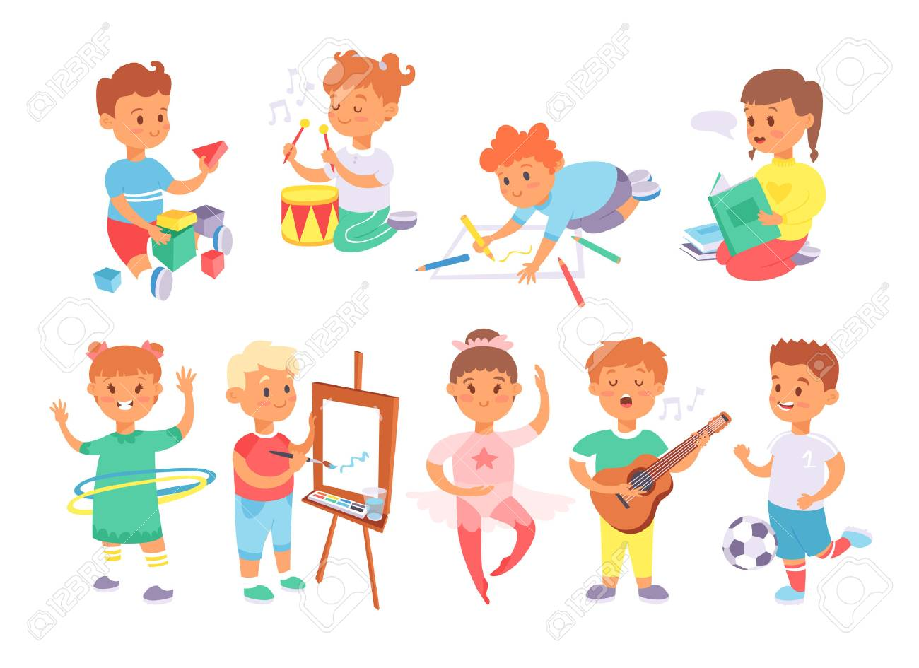 Active games clipart png black and white download Clipart Of Kids Playing With Little People Toys & Clip Art Images ... png black and white download