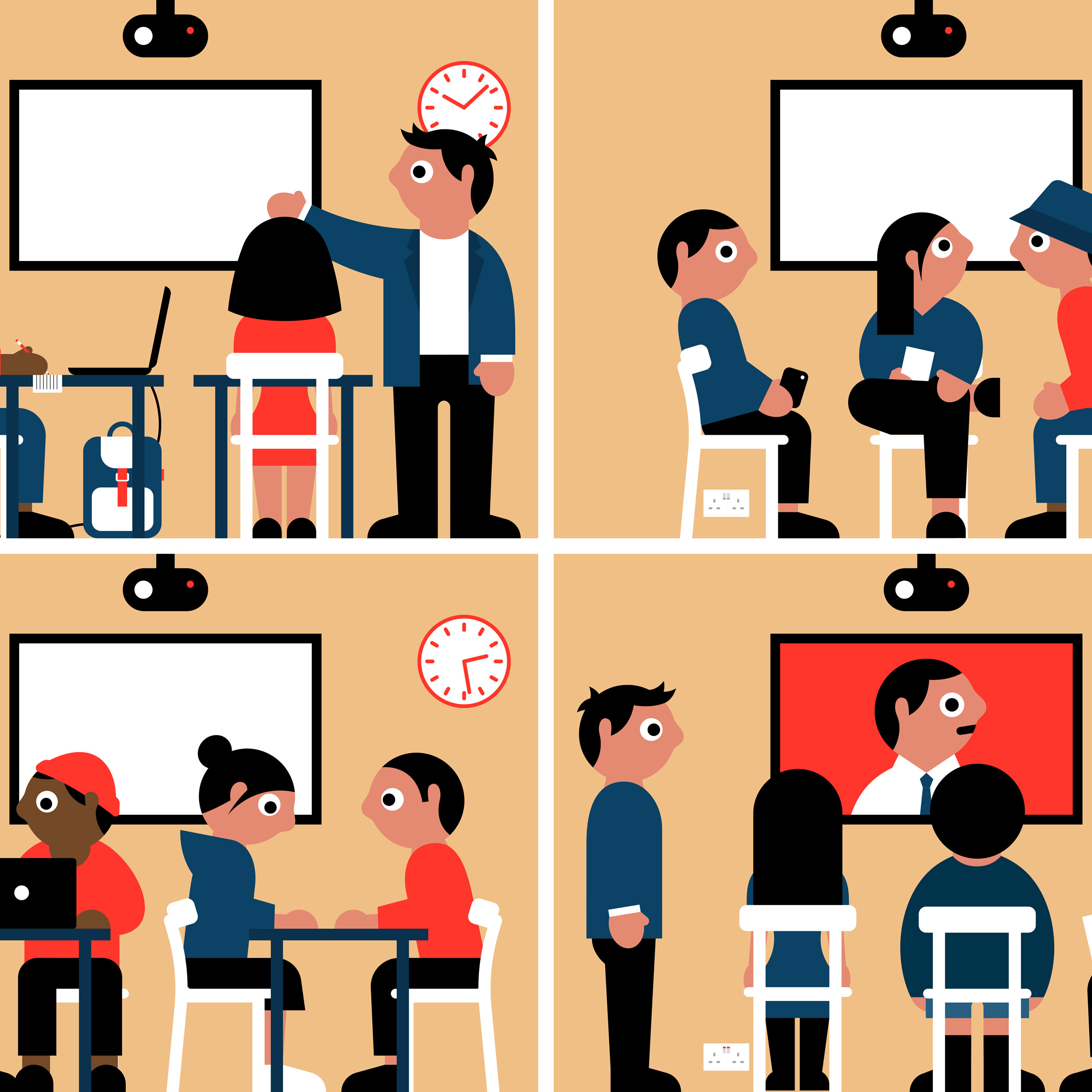 Active learners clipart clipart black and white library Universities undergo radical switch to open-plan learning, finds Haworth clipart black and white library