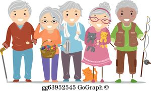 Active senior clipart public domain image black and white stock Elderly Clip Art - Royalty Free - GoGraph image black and white stock