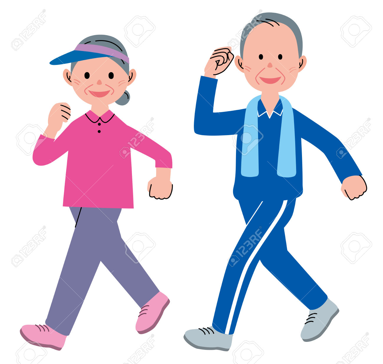 Fitness walking clipart image free Exercise Cartoon Clipart | Free download best Exercise Cartoon ... image free