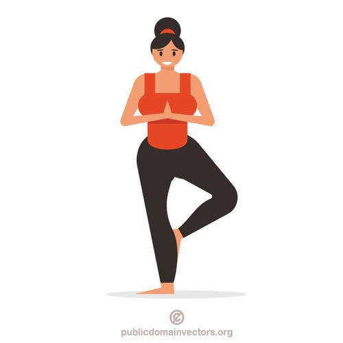 Active senior clipart public domain clip art free library Girl doing yoga exercise | Public domain vectors clip art free library
