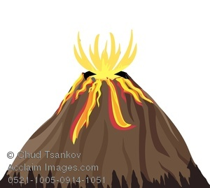 Active volcanoes clipart vector freeuse download Lava Spurting From an Active Volcano Clipart Image vector freeuse download