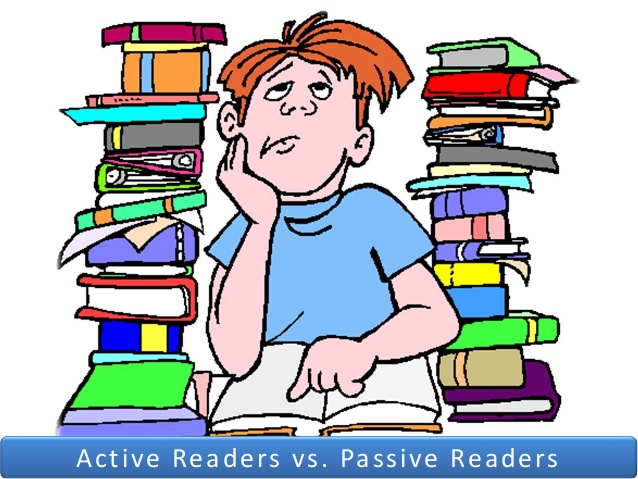 Active vs passive clipart image royalty free library Active vs Passive Readers image royalty free library