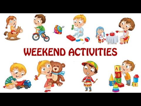 Activities tonight clipart banner black and white download What You Do On Weekends? Weekend Activities For Kids | Kids Activities |  Fun & Learn banner black and white download
