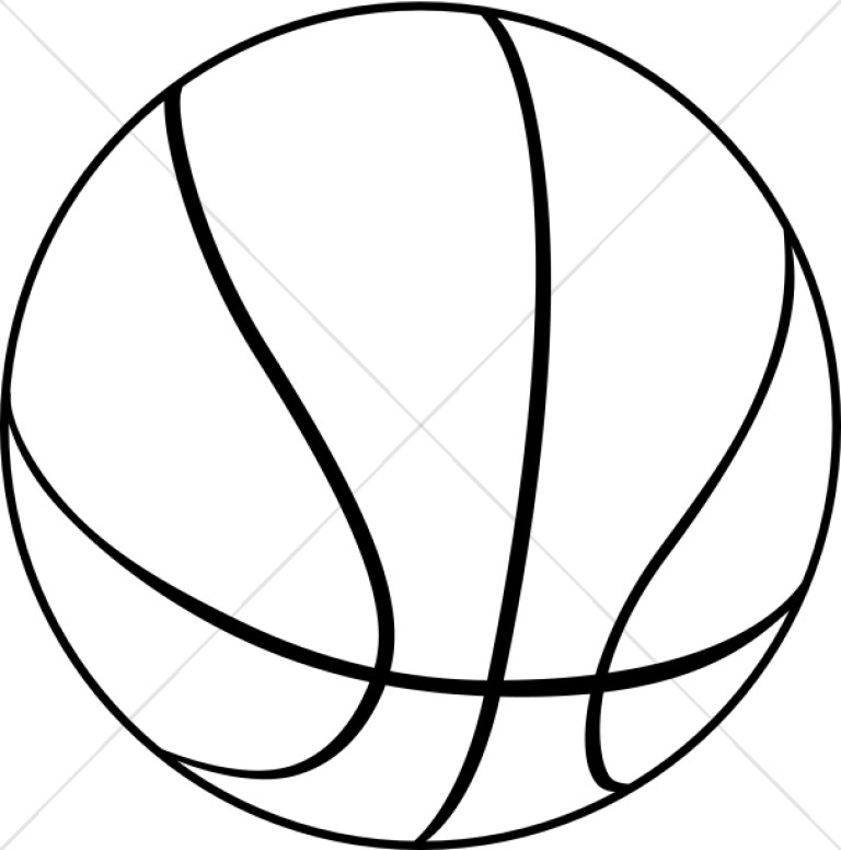 Activity clipart black and white clip art free library Black and White Basketball | Church Activity Clipart clip art free library