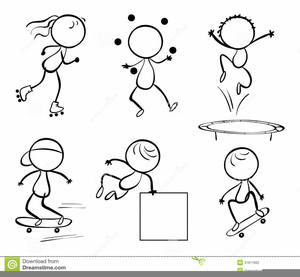 Activity clipart black and white image free Free Physical Activity Clipart | Free Images at Clker.com - vector ... image free