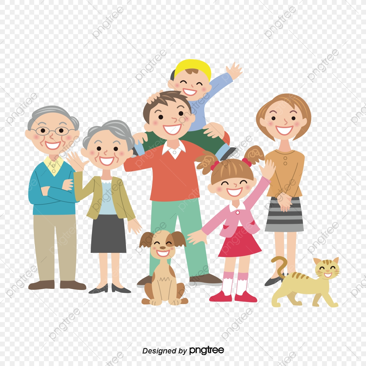 Cartoon Family Activity Parent Hand Paging, Cartoon, Children ... jpg black and white