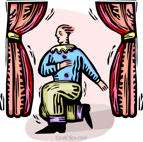 Man acting on stage Royalty Free Vector Clip Art illustration ... svg freeuse library